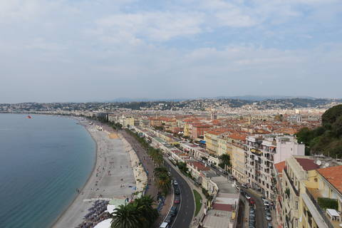 Image Title: Over looking the Promenade des Anglais and the Mediterranean Sea.  [Photo: Open Door Travelers]