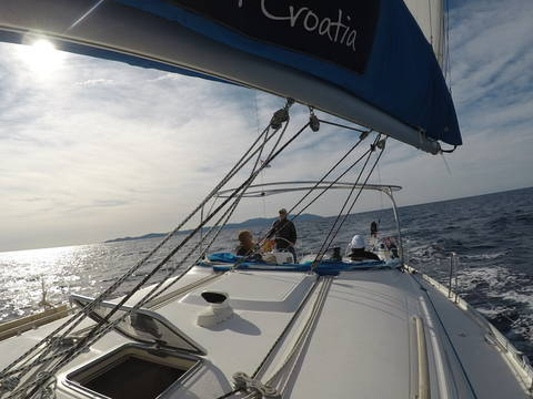 Image Title: Sailing in October with Sail Croatia. [Photo: Open Door Travelers]