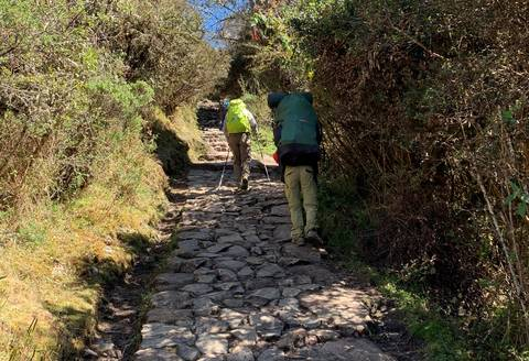 Image Title: The 800 year-old Inca Trail. [Photo: Open Door Travelers]