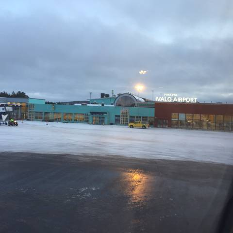 Image Title: Ivalo Airport (IVL) mid-day in November 2015 [Photo: Open Door Travelers]