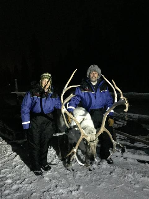 Image Title: Reindeer Safari hunt for Aurora Borealis [Photo:Open Door Travelers]