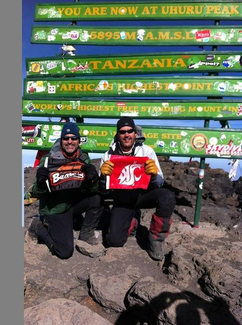 Image Title: Summit of Mt. Kilimanjaro. [Photo: Open Door Travelers]